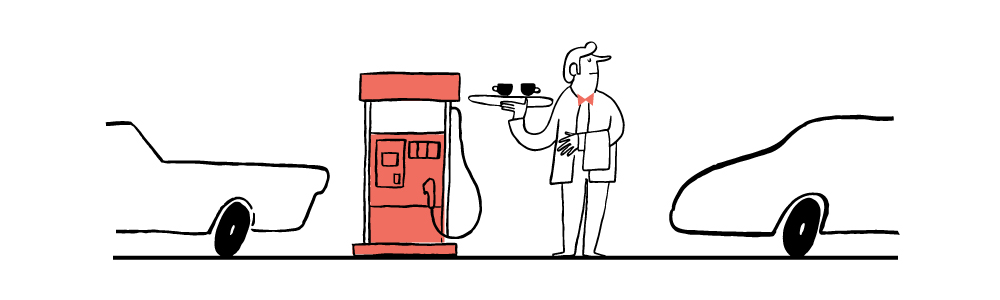 Maya Stepien | The Forecast | On petrol stations
