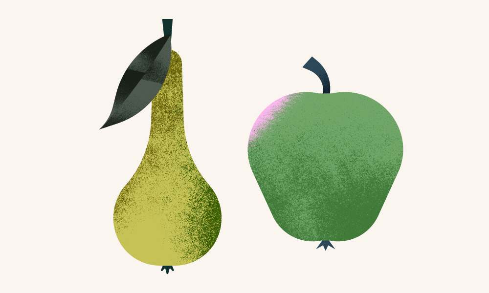 Maya Stepien | The Greenery | Pear and apple